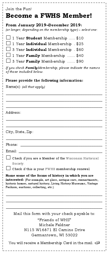2019 Membership Form