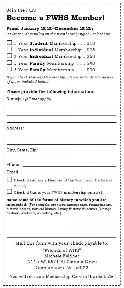 2020 Membership Form