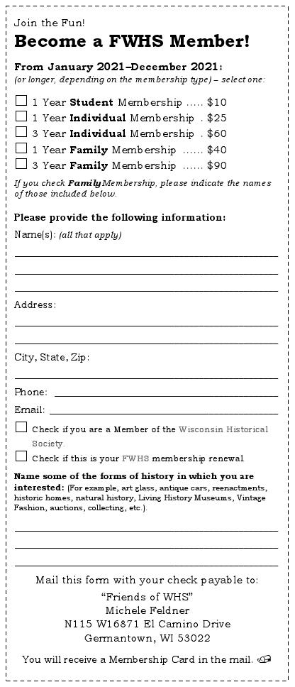 2021 Membership Form