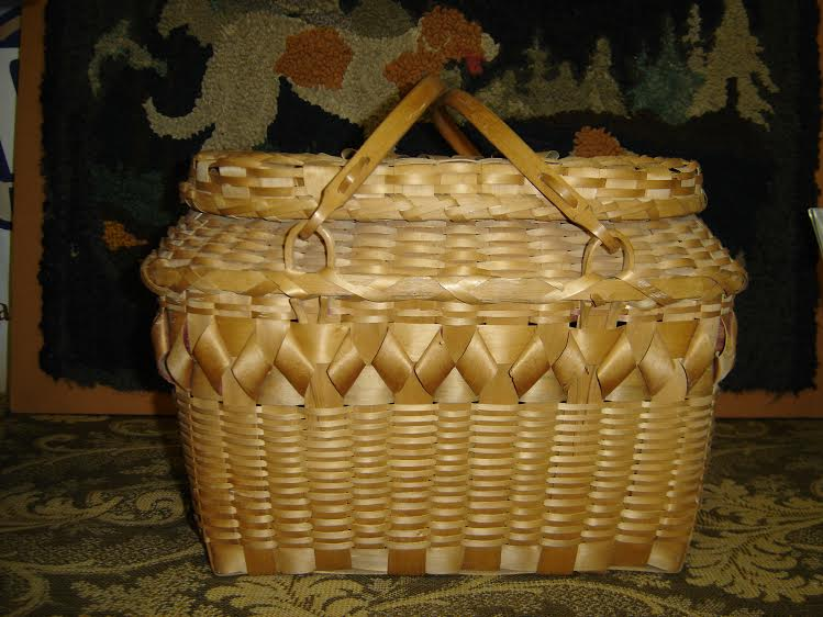 Bruce, Kathy & Dick; Winnebago Double-Handled Covered Basket, c1940s