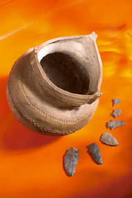 Clay Pot and Spear Heads 0001