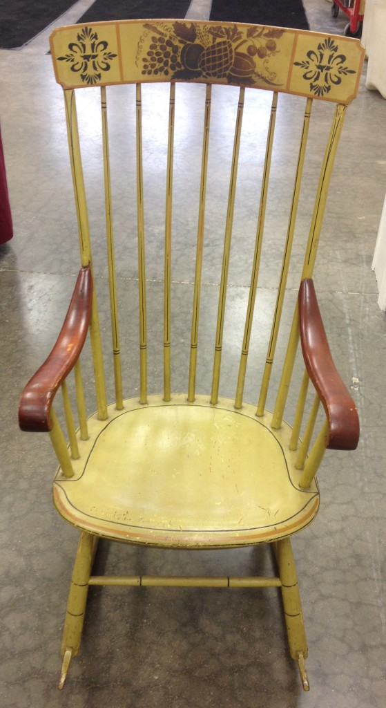 Drier, c1830 Windsor rocker, original paint and stencil