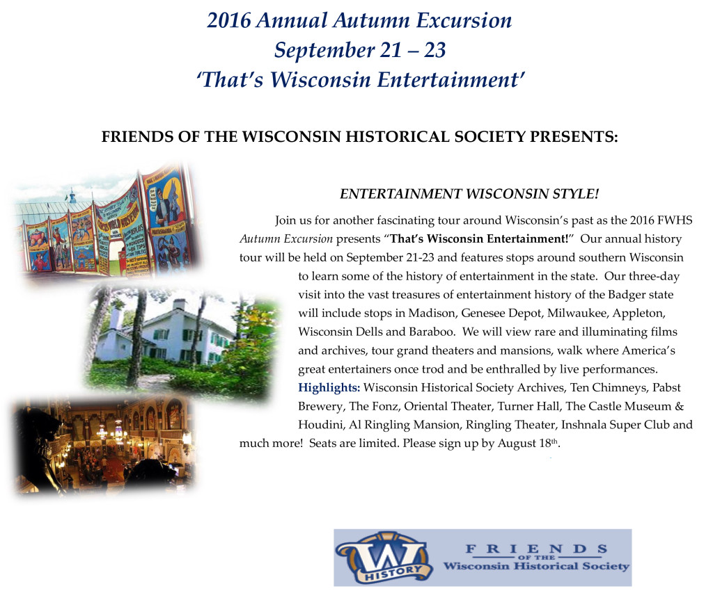 Marketing Flyer 2016 Annual Autumn Excursion