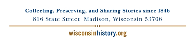 Wisconsin Historical Society Footer